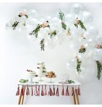 Kit pour Guirlande de Ballons Organiques - Blanc Décoration