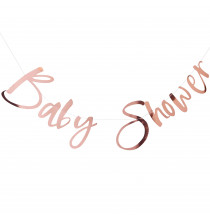 "Banderole ""Baby Shower"" rose gold - Décoration"