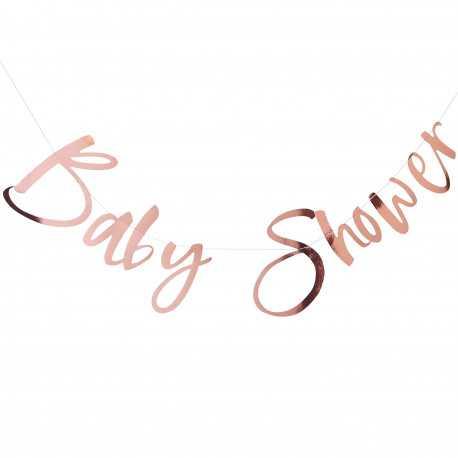 "Banderole ""Baby Shower"" rose gold - Décoration"