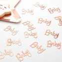 """Confettis """"Baby """" rose gold - Décoration de table"""