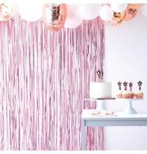 Rideau à Franges Rose Métallisé - Décoration Sweet Table à suspendre