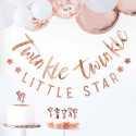 "2 Banderoles ""Twinkle Twinkle"" et ""Little Star"" rose gold - Décoration"