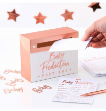 Kit Complet Jeu des Prédictions Baby Shower Rose gold