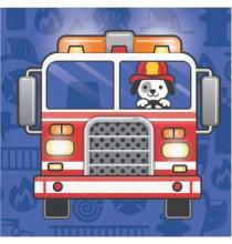 Petites serviettes Anniversaire Pompier