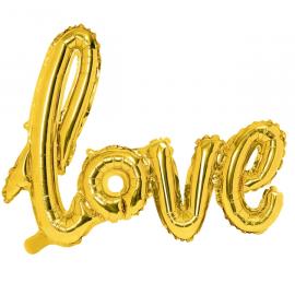 Ballon Géant Mot Love Doré - Décoration mariage