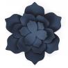 3 Fleurs en Papier à Monter Bleu Marine Vintage en Papier Décoration de Fête - 11cm