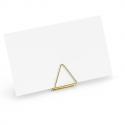 10 Marques Places - Porte-étiquettes de buffet triangle Dorés Sweet Table