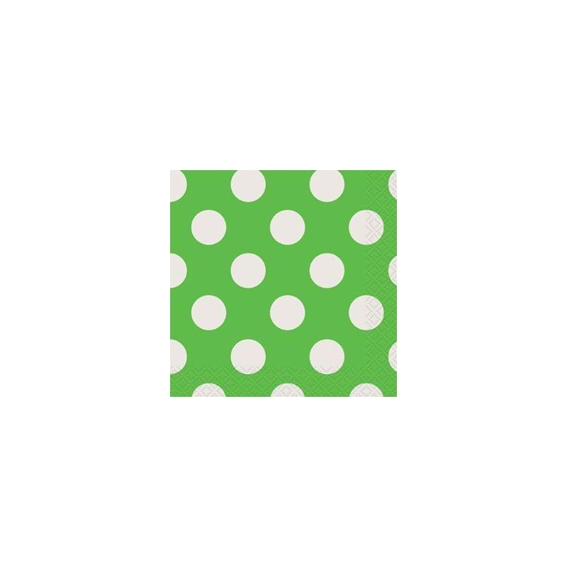 Serviettes en papier vert pois blanc - Serviette en papier vert fonce ...