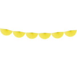 Banderole Eventails Jaune - Candy Party