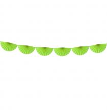 Banderole Eventails Vert - Décoration de fête
