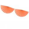 Banderole Eventails Orange Clair - Décoration de fête