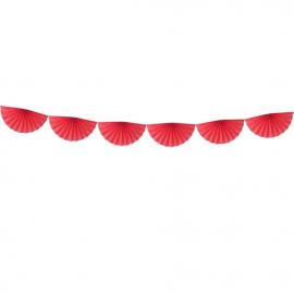 Banderole Eventails Rouge - Décoration de fête