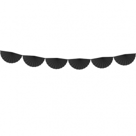 Banderole Eventails Noir - Décoration de fête
