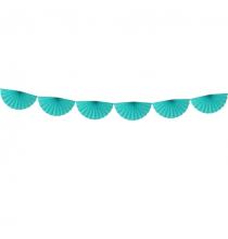 Banderole Eventails Vert d'Eau - Menthe - Décoration de fête