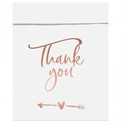 6 Sachets Cadeaux Invités Thank You Rose Gold / Rose Cuivré Sweet Table