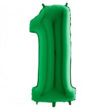 Ballon Géant Alu Vert 1 An Fête d'Anniversaire