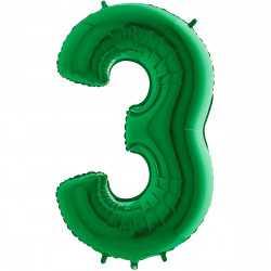Ballon 35cm Alu Vert 3 Ans Fête d'Anniversaire enfant