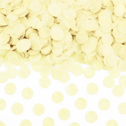 Sachet de confettis ronds ivoire - Papier de soie