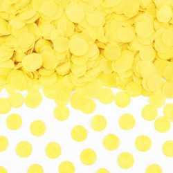 Sachet de confettis ronds jaune - Papier de soie