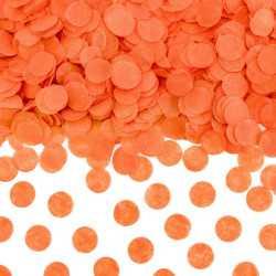 Sachet de confettis ronds orange - Papier de soie