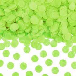 Sachet de confettis ronds vert anis - Papier de soie