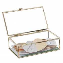 Boîte à Bijoux avec Coeurs dorés métallisés - Livre d'or original de fête