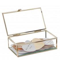 Boîte à Bijoux - Livre d'or original avec coeurs doré métallisés