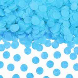 Sachet de confettis ronds bleu - Papier de soie