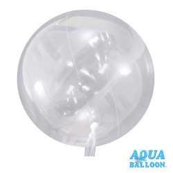 Petit Ballon Aqua Bulle Ultra Transparent Fête