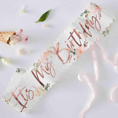 Echarpe It's my birthday - Collection Liberty Rose Gold