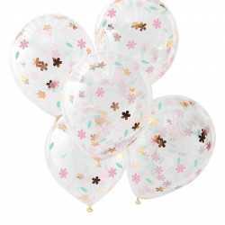 Ballons Confettis Fleuris Liberty Rose Gold - Collection décoration florale pastel