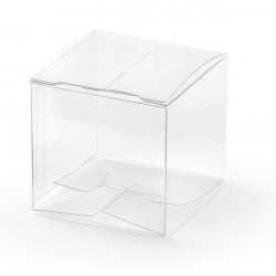 10 Boîtes à Dragées Cube ContenantsTransparents eb Plastique Alimentaire