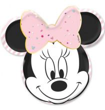 Assiettes en forme de tête de minnie mouse