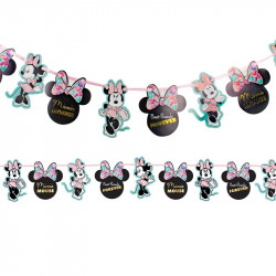 Ballon Alu Minnie Mouse Rouge et Noir