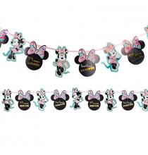Ballon Alu Minnie Mouse Rouge et Noir