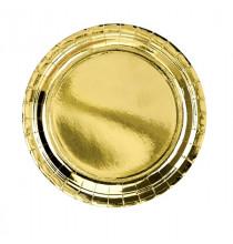 Petites Assiettes Rondes Doré Brillant - Vaisselle jetable premium