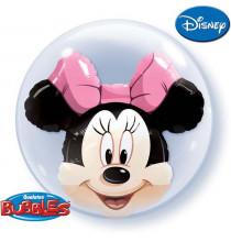 Ballon Bubble 60cm Tête de Minnie Disney - Anniversaire fête