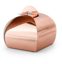 10 Contenants Boîtes Cadeaux Invités Rose Gold / Rose Cuivré Sweet Table
