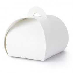 10 Contenants Boîtes Cadeaux Invités Blanc Sweet Table
