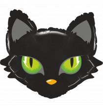 Ballon alu xxl en forme de chat noir - Anniversaire