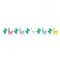 Banderole à fanions thème Lama et Cactus - Anniversaire pour enfant