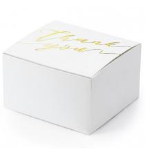 10 Petites Boîtes Cadeaux Invités Thank You Doré Sweet Table