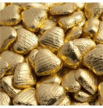 100 Chocolats Coeurs Premium Dorés - Candy Bar