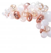 Kit pour Guirlande de Ballons Organiques - Rose Gold & Blanc Décoration