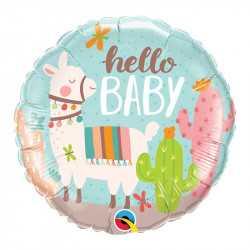 Ballon Alu Lama Hello Baby - Anniversaire pour enfant
