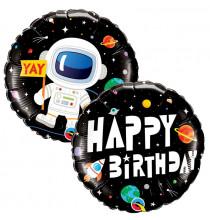 Ballon Alu Rond Astronaute - Anniversaire Planètes & Espace