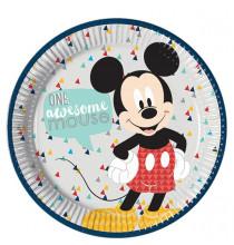 Grandes assiettes rondes Mickey Mouse Disney Premium