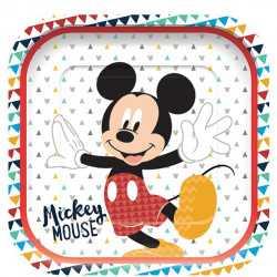 Grandes assiettes carré / plateaux Mickey Mouse Disney Premium