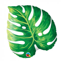 Ballon Alu Feuille Jungle Vert Foncé - Tropical Party