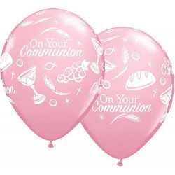 Ballon Décoration Baptême Rose Clair Nacré - Qualité premium